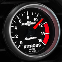 Auto Meter Sport Comp II Nitrous Pressure Gauge - Electric (79-14 All)