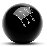 Billiard Ball 6-Speed Shift Knob - Black (79-04 All)