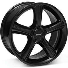 Black 2010 Style GT Premium Wheels (1987-1993 5 Lug Conversion)