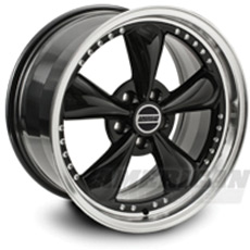 Black Bullitt Motorsport Wheels (1987-1993 5 Lug Conversion)