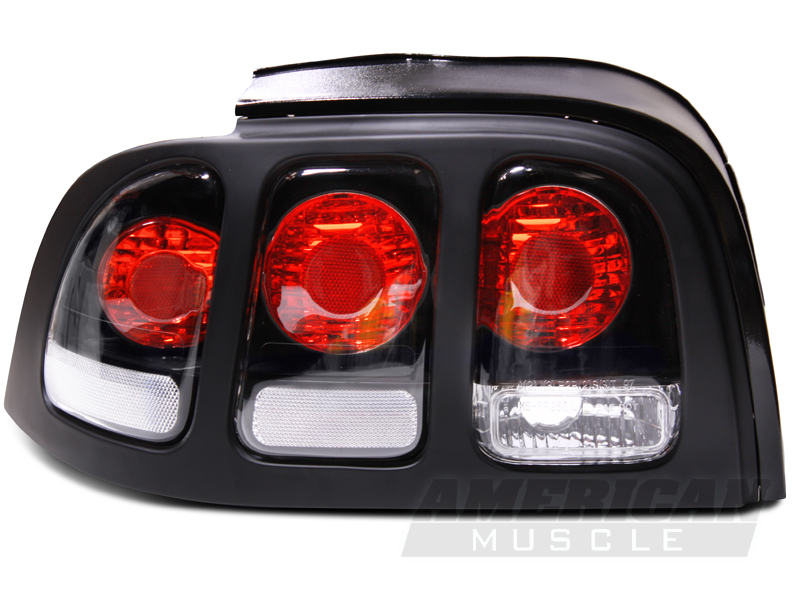 black euro mustang taillights 96 98 all free shipping. Black Bedroom Furniture Sets. Home Design Ideas
