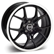 Black GT4 Wheels (1987-1993 5 Lug Conversion)