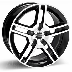 Black Machined 2010 GT500 Style Wheels (10-14)