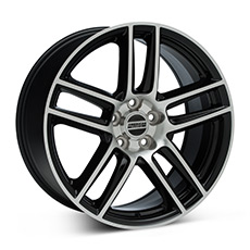 Black Machined Boss Laguna Seca Style Wheels (2005-2009)