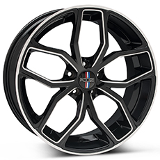 Black Machined Foose Outcast Wheels (2010-2014)