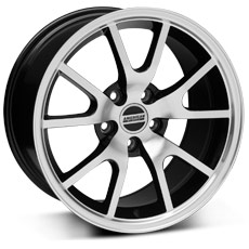 Black Machined FR500 Style Wheels (2005-2009)