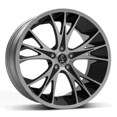 Black Machined Shelby CS1 Wheels (2005-2009)
