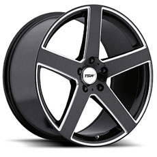 Black Machined TSW Rivage Wheels (2005-2009)
