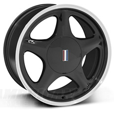 Machined Black Pony Wheels (1999-2004)