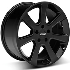 Black S197 Saleen Style Wheels (1987-1993 5 Lug Conversion)