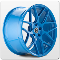 Blue Mustang Wheels