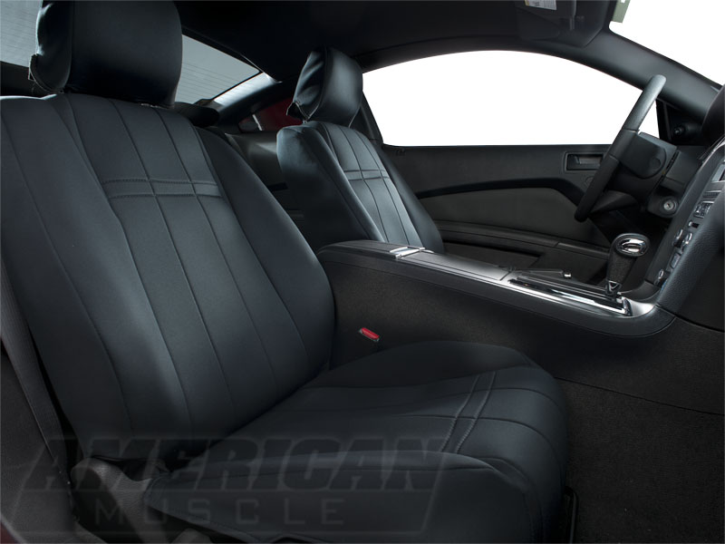 Caltrend Neosupreme Mustang Front Seat Cover Black 05
