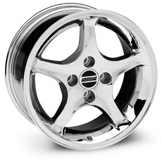 Chrome 1995 Cobra R Style Wheels (79-93)