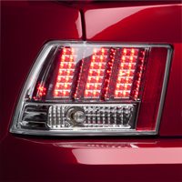 Chrome 3-Light LED Tail Lights (99-04 GT, V6, Mach 1)