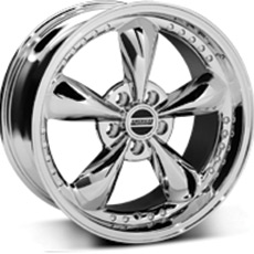 Chrome Bullitt Motorsport Wheels (1987-1993 5 Lug Conversion)