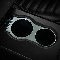 Modern Billet Chrome Cup Holder Bezel - GT Logo (05-09 All)
