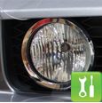 Chrome Mustang Fog Light Trim (05-09 GT) - Installation Instructions