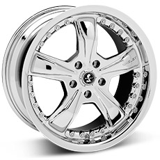 Chrome Shelby Razor Wheels (05-09)