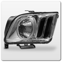 Clear Mustang Headlights