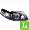 Dual Mustang Halo Projector Headlights - LED ('99-'04) - Installation Instructions