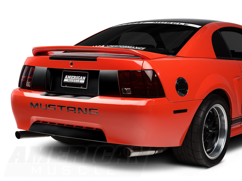 Mustang Rear Valence Accent Decal Gloss Black 99 04 Gt