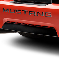 Gloss Black Lower Rear Valance Accent (99-04 GT, V6, Mach 1; 99 Cobra)