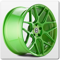 Green Mustang Wheels