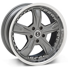 Gunmetal Shelby Razor Wheels (10-14)