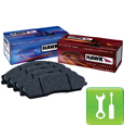 Hawk HPS Brake Pads (1999-2004 Mustang GT/V6 Front Pair) - Installation Instructions