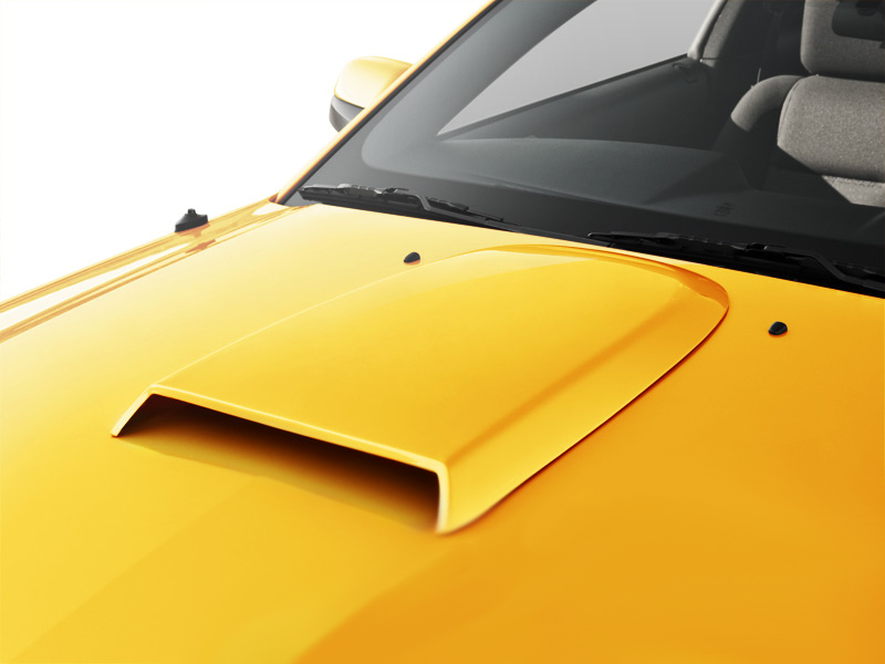 Painted Mustang Hood Scoop Americanmuscle Com 05 09 Gt V6 Free Shipping