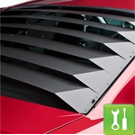 How to Install Smooth Aluminum Rear Window Louvers for a 2005-2012 Mustang