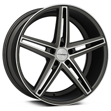 Machined Matte Graphite Vossen CV5 Wheels (2010-2014)