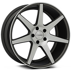 Machined Matte Graphite Vossen CV7 Wheels (2010-2014)