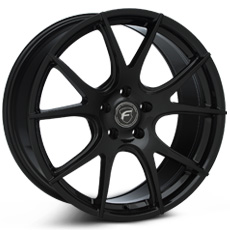 Matte Black Forgestar CF5V Monoblock Wheels (2010-2014)