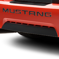 Matte Black Lower Rear Valance Accent (99-04 GT, V6, Mach 1; 99 Cobra)