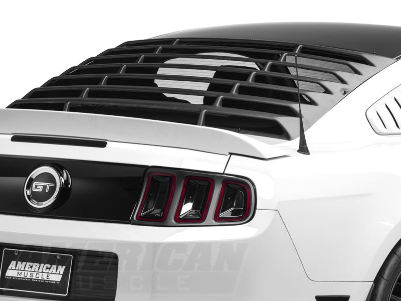 Mustang Textured Abs Rear Window Louvers 2005 2014 05