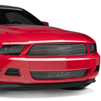 Modern Billet Polished Pony Delete Billet Grille (10-12 V6)