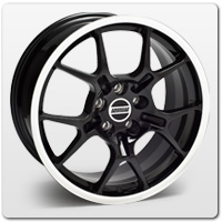 Mustang Black GT4 Wheels
