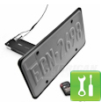 Mustang Flip Down License Plate Holder - Motorized - Installation Instructions