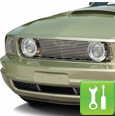 Mustang Grille w/ GT-Style Angel Eye Fog Lights - ('05-'09 V6) - Installation Instructions