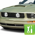 Mustang GT Style Pony Delete Grille w/ Fog Lights ('05-'09 V6) - Installation Instructions