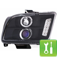Mustang Halo Projector Headlights - LED (05-09) - Installation Instructions