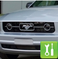 Mustang Pony Package Smoked Fog Light Covers (05-09 V6) - Installation Instructions