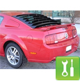 Mustang Smooth Aluminum Rear Window Louvers - (2005-2011) - Installation Instructions