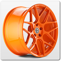Orange Mustang Wheels