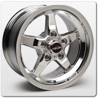 Polished Mustang Wheels
