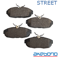 Akebono ProAct Ultra Premium Ceramic Brake Pads - Rear Pair (05-14 All)