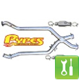Pypes 409 Stainless Steel Catted X-Pipe (98-04 V6) - Installation Instructions