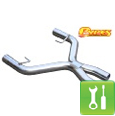 Pypes 409 Stainless Steel Cut & Clamp X-Pipe ('05-'10 GT) - Installation Instructions