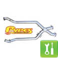Pypes 409 Stainless Steel Off-Road X-pipe ('96-'98 GT) - Installation Instructions